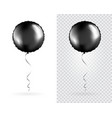 set black round shaped foil balloons on vector image vector image