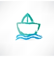 ship on the waves icon vector image