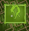 soccer vintage frame vector image vector image