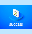 success isometric icon isolated on color vector image vector image