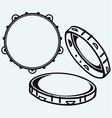 Tambourine with nobody holding vector image vector image