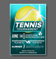 tennis poster banner advertising a4 size vector image