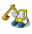 thumbs up excavator character cartoon style vector image vector image