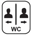 Toilet symbol Male and Female toile vector image vector image