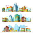 urban seamless landscape city backgrounds vector image vector image
