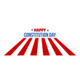 usa constitution day logo icon flat style vector image