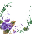 Watercolor of Violet Flowers vector image vector image