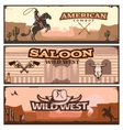 wild west banner set vector image