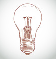 idea lightbulb sketch on white background vector image