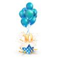 10th years celebrations greetings ten vector image