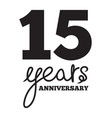 15 years anniversary vector image vector image