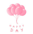 a bundle of balloons greeting card for birthday vector image vector image