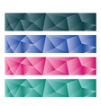 abstract backgrounds low poly vector image vector image