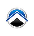 abstract property up circle symbol logo design vector image vector image