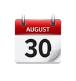 August 30 flat daily calendar icon Date vector image vector image