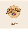 best pie logo labels lettering berries vector image vector image