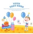 Boy happy birthday gifts vector image vector image
