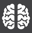brain solid icon brainstorm and idea medical vector image vector image
