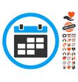 calendar icon with valentine bonus vector image vector image