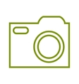 camera photographic isolated icon vector image vector image