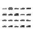 car model travel bus truck transport vehicle vector image vector image