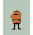 Cartoon Security man vector image vector image