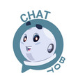 chat bot icon cute robot chatter or chatterbot vector image vector image
