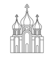 Christian church icon outline style vector image vector image