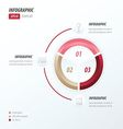 Circle infographic pink red Brown vector image vector image