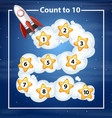 count to 10 rocker background vector image vector image
