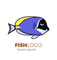 cute fish icons set tropical vector image vector image