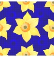 Daffodils on a Blue Background vector image