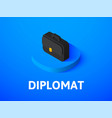 diplomat isometric icon isolated on color vector image vector image
