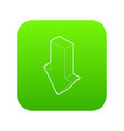 down arrow icon green vector image