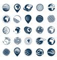 earth logo set vector image vector image