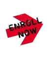 Enroll now stamp vector image vector image
