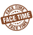 face time brown grunge stamp vector image vector image