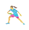 Female player is playing Ultimate Frisbee vector image vector image