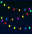 festive colored garlands vector image