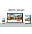 flat amusement park adaptive design concept vector image vector image