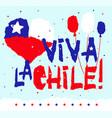 flat fiestas patrias design card with text viva la vector image vector image