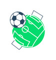 football soccer ball icon vector image vector image