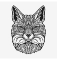 Fox Animal decorated with ethnic patterns vector image vector image