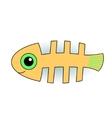 Funny fish-skeleton vector image vector image