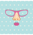 Glasses background vector image