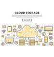 global cloud storage linear style infographics vector image vector image