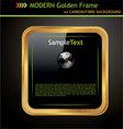 golden frame vector image vector image