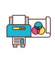 graphic design printer copy paper vector image