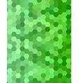 Green color hexagon mosaic background design vector image vector image