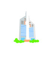 hand drawing icon two skyscrapers vector image